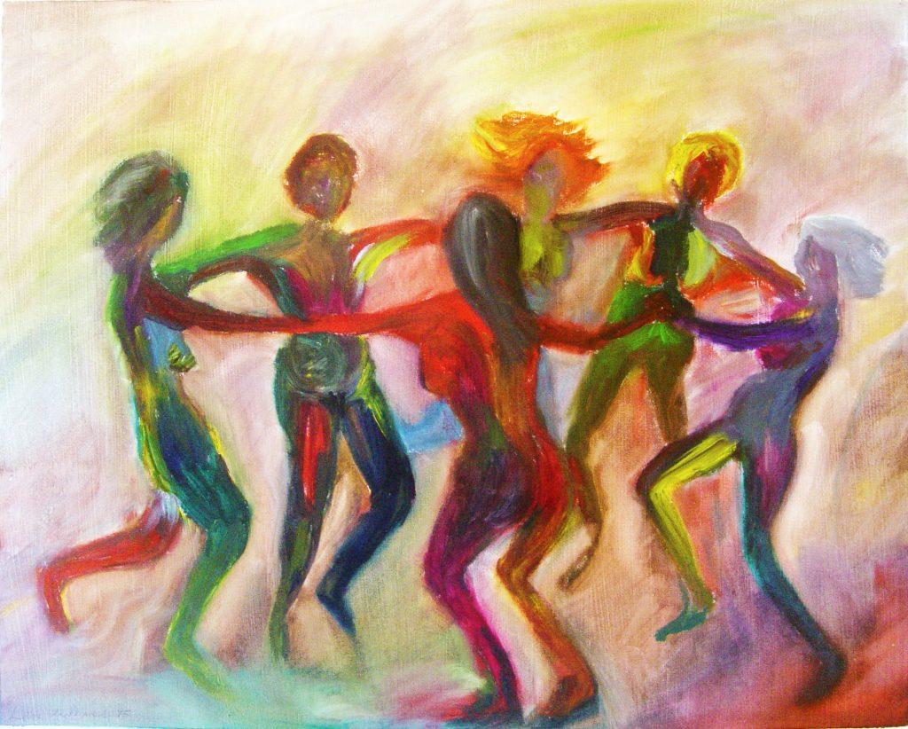 Cerchio danzante colorato
